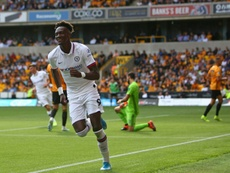 Abraham scored a hat trick and an own goal against Wolves. AFP
