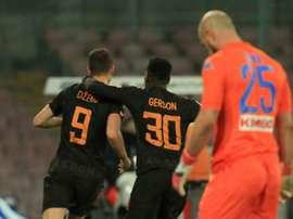 A Roma bateu o Napoli por 2-4. AFP