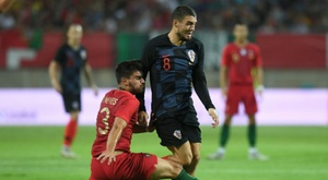 Mateo Kovacic pictured on international duty for Croatia. AFP
