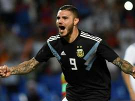 Icardi is hoping to become the most potent striker on  the planet. AFP