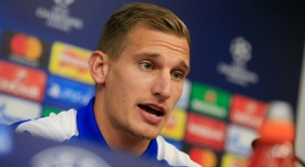 Albrighton spoke after a tough few weeks at Leicester. AFP