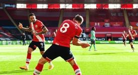 Southampton won 2-0. AFP