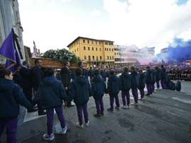 Thousands turned up to say goodbye to Davide Astori. AFP