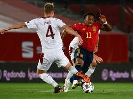 Tato Martino spoke about Adama Traore (R). AFP