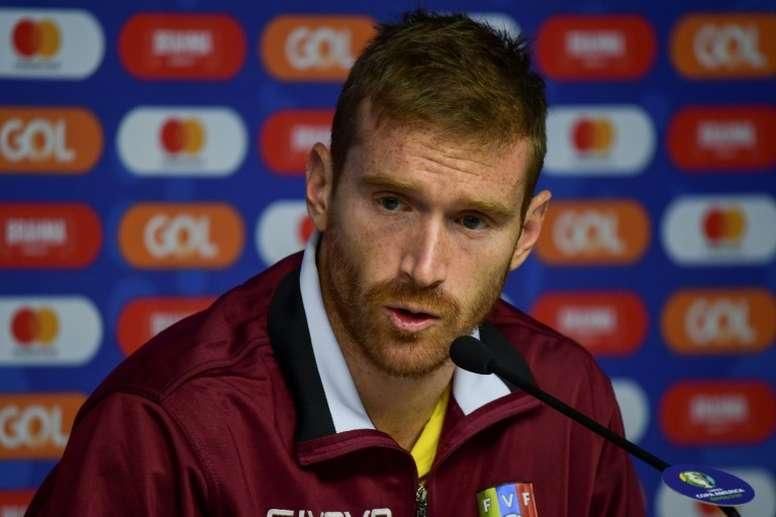 Copa America footballers aim to bring 'joy' to Venezuela. AFP