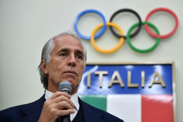 Giovanni Malagó no lo ve seguro. AFP