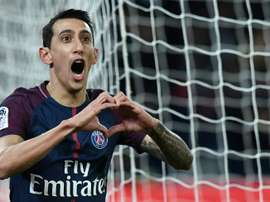 Di Maria opened the scoring for PSG from an offside position. AFP