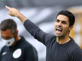 Arteta shows his admration for Liverpool. AFP