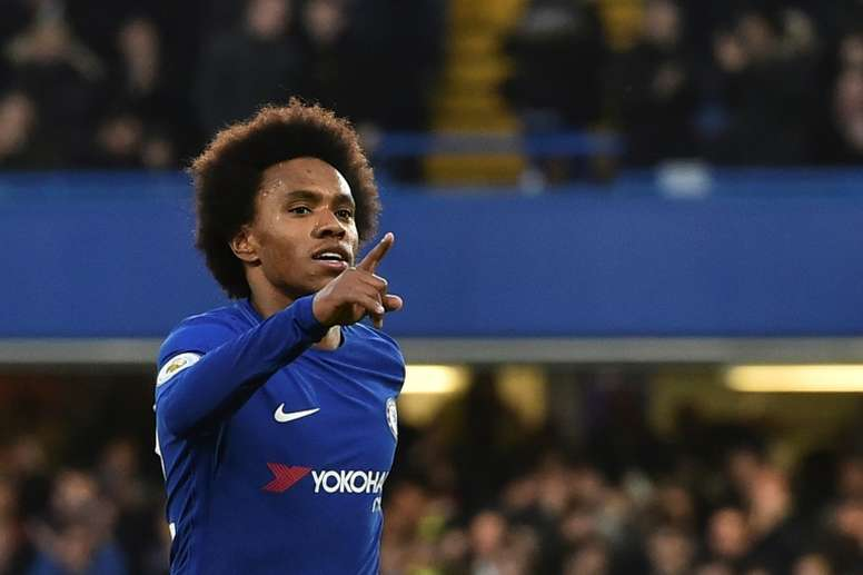 Chelsea have reportedly rejected an offer from Barcelona for Willian. AFP