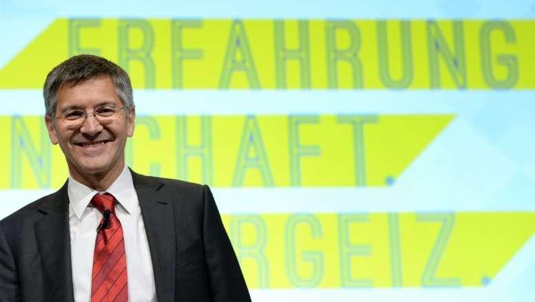 Herbert Hainer criticó el proyecto de la Superliga. AFP
