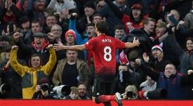 Mata fue una de las estrellas del United ante el Fulham. AFP