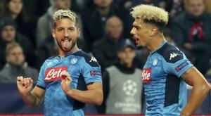 Napoli anuncia medidas contra jugadores rebeldes. AFP
