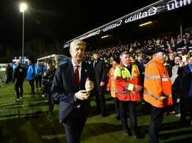 El Arsenal se enfrentó al Sutton en la FA Cup. AFP