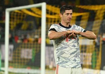 Lewandowski reconoció que tuvo contactos con el Real Madrid. AFP