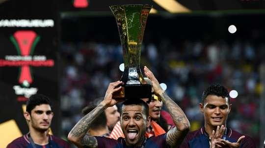 Dani Alves revels in 'dream' PSG start. AFP