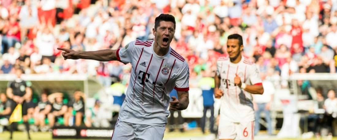 Lewandowski has scored 38 goals so far this season. AFP