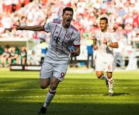 Lewandowski has scored 38 goals so far this season. AFP