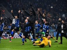 Inter won 4-2. AFP