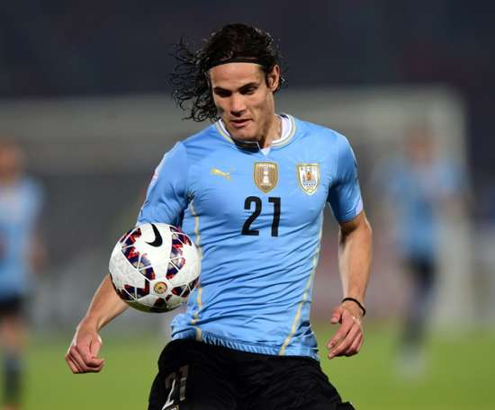 Uruguays forward Edinson Cavani, who plays for Paris Saint-Germain, was sent off midway through the second half of Uruguays stormy 1-0 Copa America quarter-final defeat for a second yellow card after he flicked a hand into Jaras face