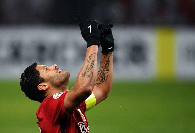 Hulk quiere dejar el fútbol chino. AFP