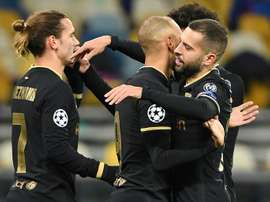 Barca put four past Dynamo Kiev in the second 45 to make the Champions League last 16. AFP