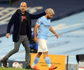 Guardiola continues to back Aguero over female linesman incident. AFP