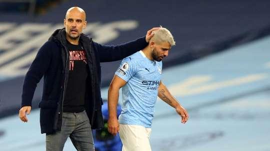 Pep Guardiola has told Sergio Aguero to earn a new Manchester City contract. AFP