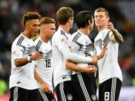 Schulz's last minute goal gave Germany the win. AFP