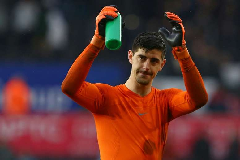 Courtois made it into the top three. AFP