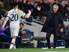 Tottenham survive scare to make last 16 on Mourinho's home bow. AFP