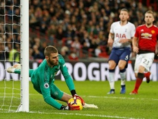 De Gea was a star turn, as he shut out Tottenham in the second half. AFP