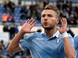 Ciro Immobile struck in the second half as Lazio overcame Genoa 4-2. AFP