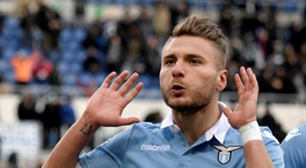 Ciro Immobile struck in the second half as Lazio overcame Genoa 4-2. AFP