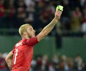 El gol de Arnautovic revivió a Austria. AFP