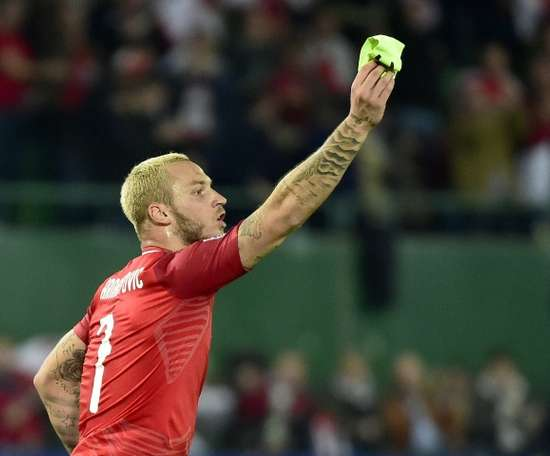 Arnautovic could miss the game on Sunday. AFP