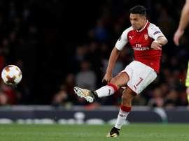 O homem do jogo (mais da segunda parte) do Arsenal: Alexis Sánchez. AFP