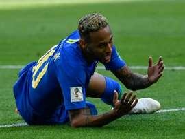Neymar, très critiqué lors du Mondial. AFP