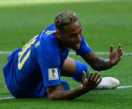 Neymar fue muy criticado en el Mundial. AFP
