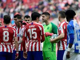 Atletico held by Leganes as defender goes in goal. AFP