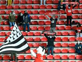 Rennes fans had to rush for the exits are their team lost to Angers. AFP