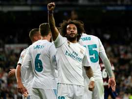 Marcelo scored his side's third goal in their 3-0 victory over Eibar. AFP