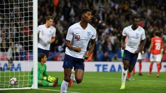 Rashford scored the game's only goal. AFP