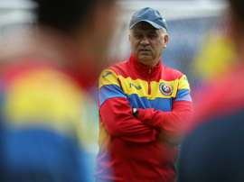 Romanias coach Anghel Iordanescu, pictured on June 14, 2016, became the first managerial casualty of Euro 2016 after Romania was knocked out of Euro 2016 in the first round