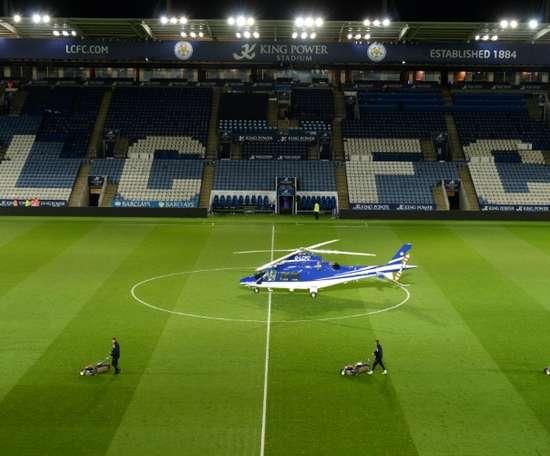 The investigation into the Leicester crash has begun. AFP