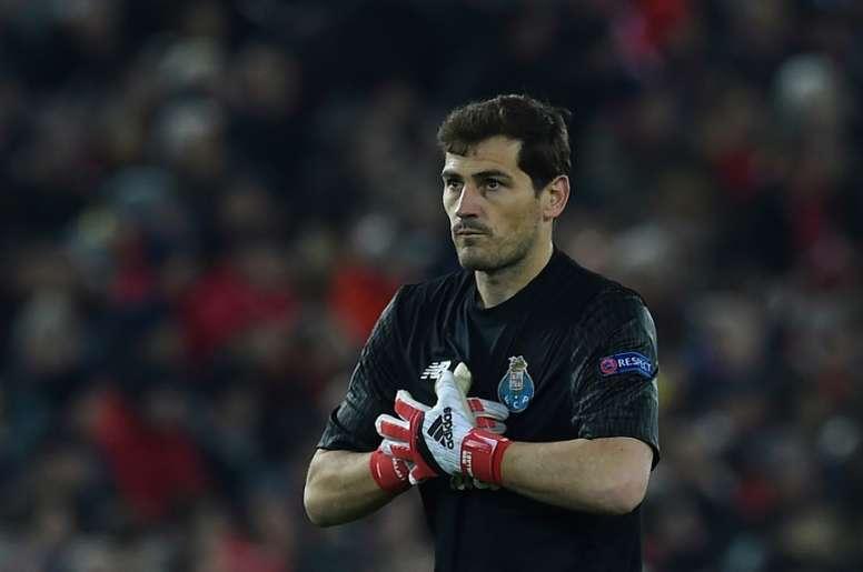 Iker Casillas vibrou com a vitória frente ao Benfica. AFP