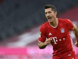 Lewandowski fait encore mieux que son début de saison passée. AFP