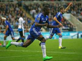 Chelseas Brazilian midfielder Ramires celebrates after a goal during the English Premier League football match between Newcastle United and Chelsea at St James Park in Newcastle-upon-Tyne, England, on September 26, 2015