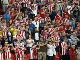 Sunderland fans pictured in Canada. AFP