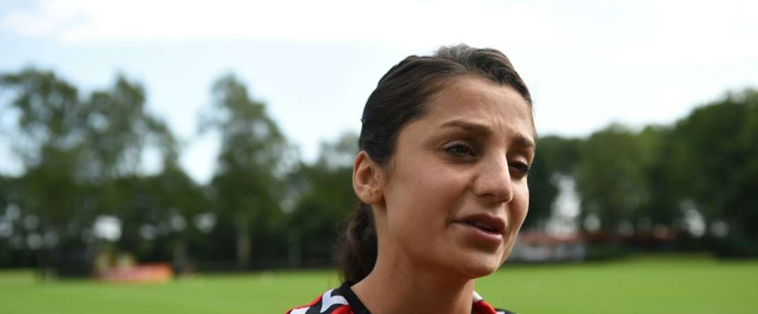 Nadia Nadim has handed in her transfer request at Manchester City. AFP