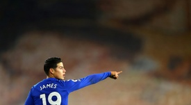 Colombian midfielder James Rodriguez is returning to form as Everton chase a top-four finish. AFP
